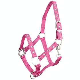 Horze Tucker Pony Halter Halster - Shocking Pink