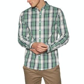 Farah Brewer Tartan Shirt - Jade Green