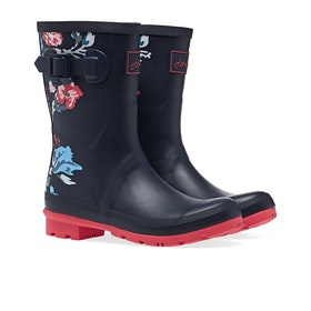 Joules Molly Damen Gummistiefel - Navy Border Floral