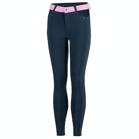 Horze Lilian Full Seat Childrens Riding Breeches - Dark Blue Purple
