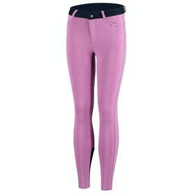 Horze Lilian Full Seat Childrens Riding Breeches - Purple White