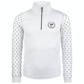 Camiseta competición Niño Horze Paige Long Sleeve - White