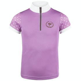 Camiseta competición Niño Horze Paige Short Sleeve - Smokey Grape