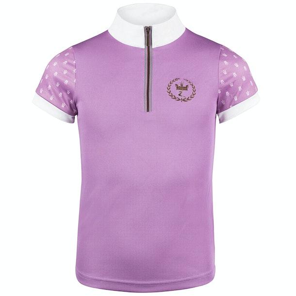 Horze Paige Short Sleeve Childrens Competition Shirt