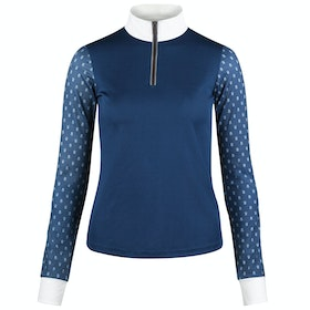 Horze Paige Long Sleeve Ladies Competition Shirt - Majolica