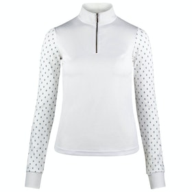 Horze Paige Long Sleeve Ladies Competition Shirt - White