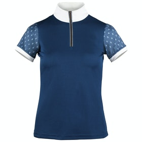 Horze Paige Short Sleeve Ladies Competition Shirt - Majolica