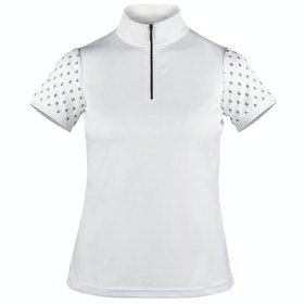 Horze Paige Short Sleeve Ladies Competition Shirt - White