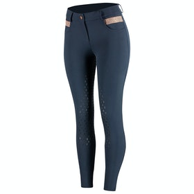 Horze Sienna Silicone Full Seat Ladies Riding Breeches - Dark Blue