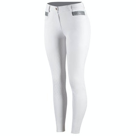 Horze Sienna Silicone Full Seat Ladies Riding Breeches - White