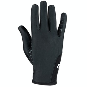 Horze Silicone Palm Print Kids Riding Gloves - Black