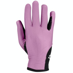 Everyday Riding Glove Enfant Horze Silicone Palm Print - Smokey Grape