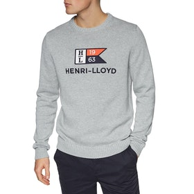 Henri Lloyd Cross Knit Men's Sweater - Grey Melange