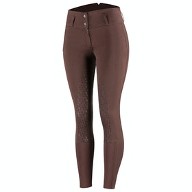 Horze Daniela Silicone Full Seat Ladies Riding Breeches - Rum Raisin