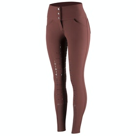 Horze Desiree Silicone Full Seat Ladies Riding Breeches - Rum Raisin