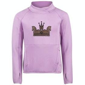Horze Emilia Long Sleeve Technical Childrens Top - Smokey Grape