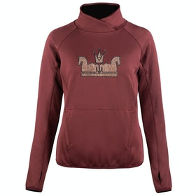 Top Femme Horze Emilia Long Sleeve Technical - Rum Raisin