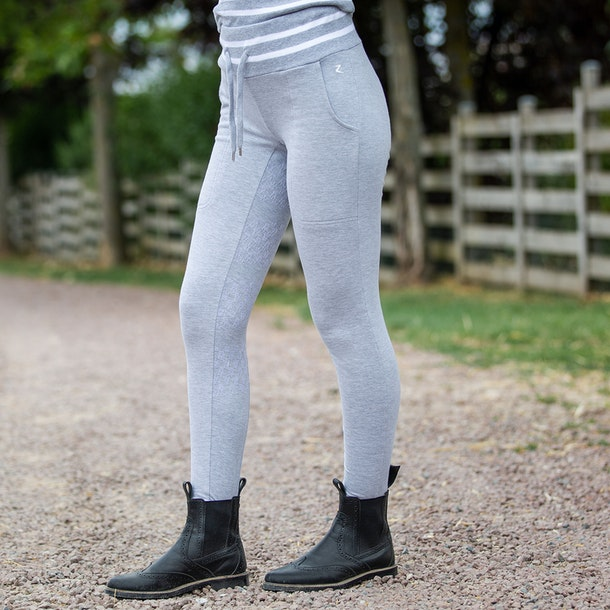 Horze Frida Cotton Terry Silicone Full Seat Riding Tights