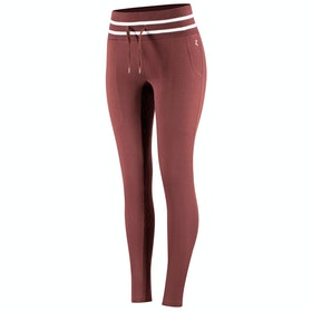 Horze Frida Cotton Terry Silicone Full Seat Riding Tights - Rum Raisin