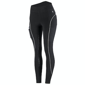 Horze Brea Silicone Full Seat Ladies Riding Tights - Black