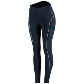 Horze Brea Silicone Full Seat Ladies Riding Tights - Dark Blue