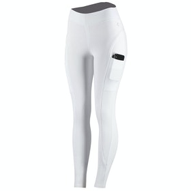 Horze Brea Silicone Full Seat Ladies Riding Tights - White