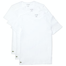 T-Shirt a Manica Corta Lacoste 3 Pack Slim Fit Crew Neck - White