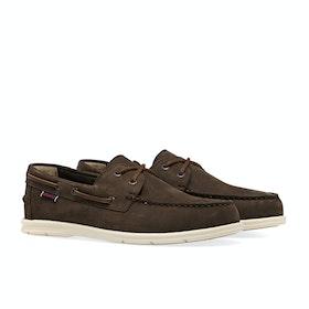 Buty wsuwane Męskie Sebago Naples Nubuck - Dark brown