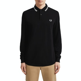 Fred Perry LS Twin Tipped , Poloskjorte - Black