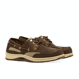 Sebago Clovehitch II Slip On Trainers - Brown Cinnamon Waxed Leather