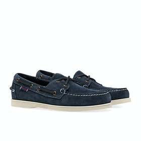 Sebago Dockside Portland , Dress Shoes - Blue Navy Suede