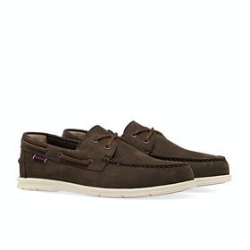 Sebago Naples Nubuck Slip On Trainers - Dark brown