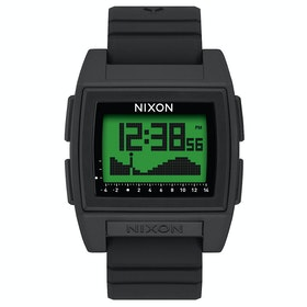 Nixon Base Tide Pro Watch - Black Green Positive