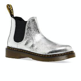 Dr Martens 2976 Kids Boots - Silver Crinkle Metallic