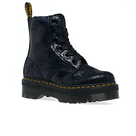 Dr Martens Molly Womens Boots - Black Iridescent Crackle