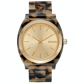 Nixon Time Teller Acetate Watch - Cream Tortoise