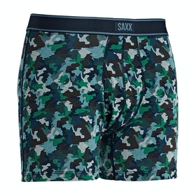 Saxx Underwear Daytripper Bb Fly Boxer Shorts - Blue Mini Camo