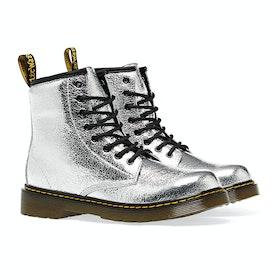 Stivali Bambini Dr Martens 1460 Crinkle Metallic - Silver