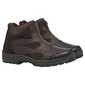 Mark Todd Short Heaphy Zip Ladies Yard Boots - Dark Brown