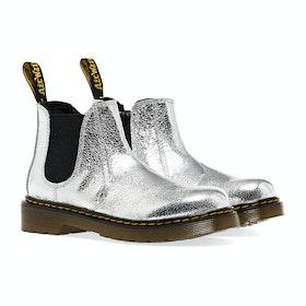 Dr Martens 2976 Kinder Stiefel - Silver Crinkle Metallic