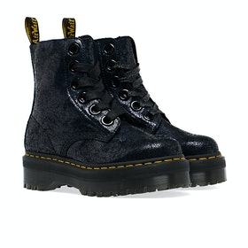 Dr Martens Molly Damen Stiefel - Black Iridescent Crackle
