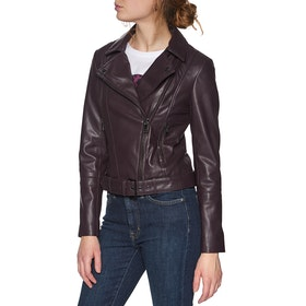 Leather Jacket Damski Ted Baker Pipiy - Deep Purple