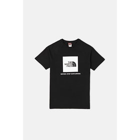 T-Shirt a Manica Corta North Face Capsule Rag Red Box - TNF Black TNF White