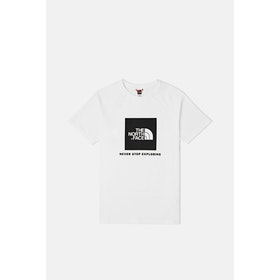T-Shirt a Manica Corta North Face Capsule Rag Red Box - TNF White