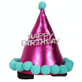 QHP Birthday Hat Horse Bridle Accessory - Fuchsia