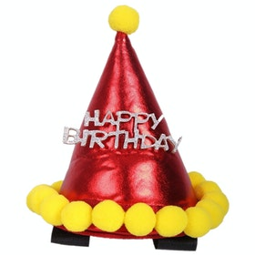 QHP Birthday Hat Horse Hoofdstel Accessoires - Red