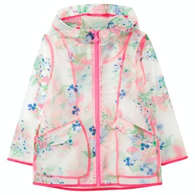 Joules Raindance Clear Girls Jacket - Clear Floral