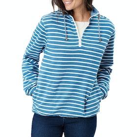 Joules Bewley Salt Damen Pullover - Dark Blue Creme Stripe
