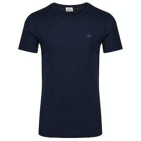 T-Shirt de Manga Curta Vivienne Westwood Undershirt - Navy Blue