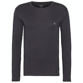 Calvin Klein Long Sleeved Crew Neck Loungewear Tops - Phantom